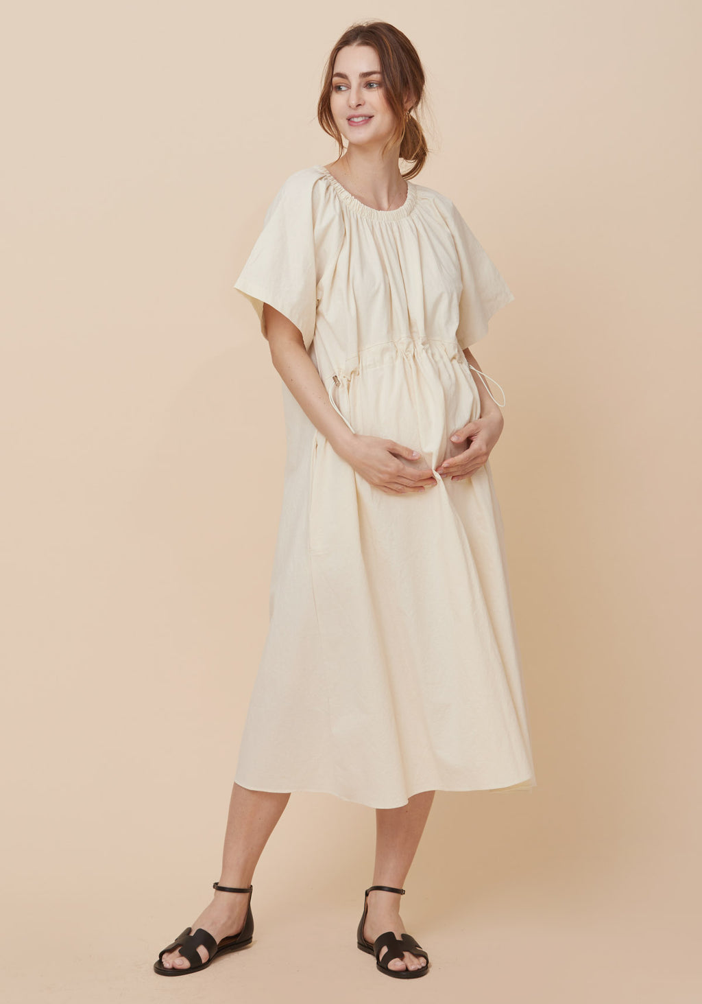 WASHED COTTON DRESS