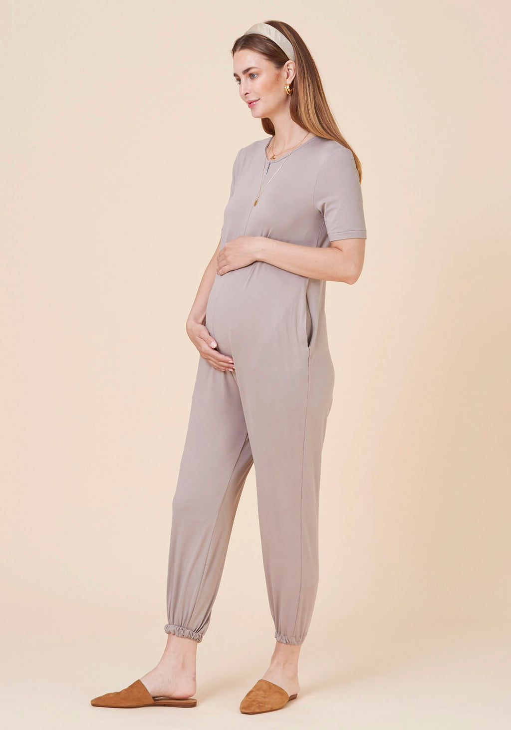 SUPER SOFT & STRETCHY NURSING JUMPSUIT