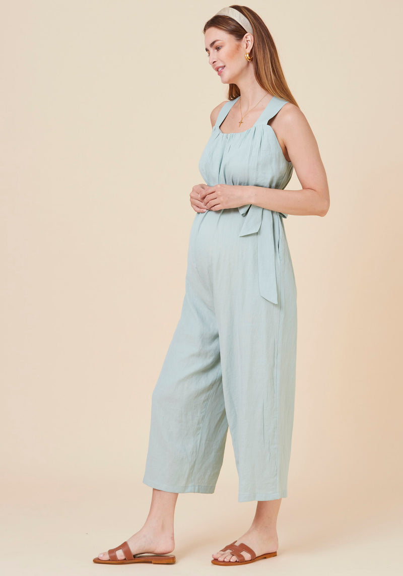 CRINKLED NURSING JUMPSUIT