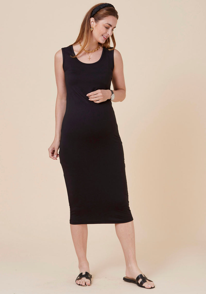 SUPER SOFT & STRETCHY MIDI DRESS