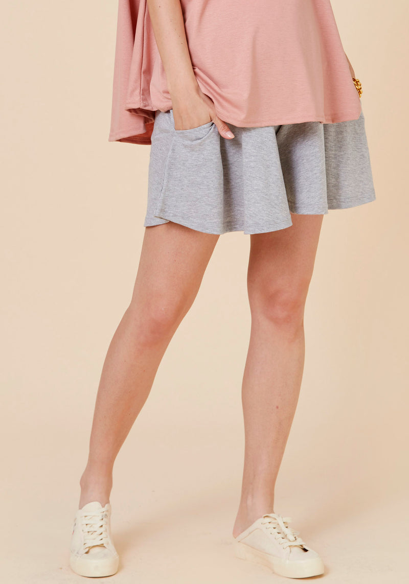 FLARED JERSEY SHORTS