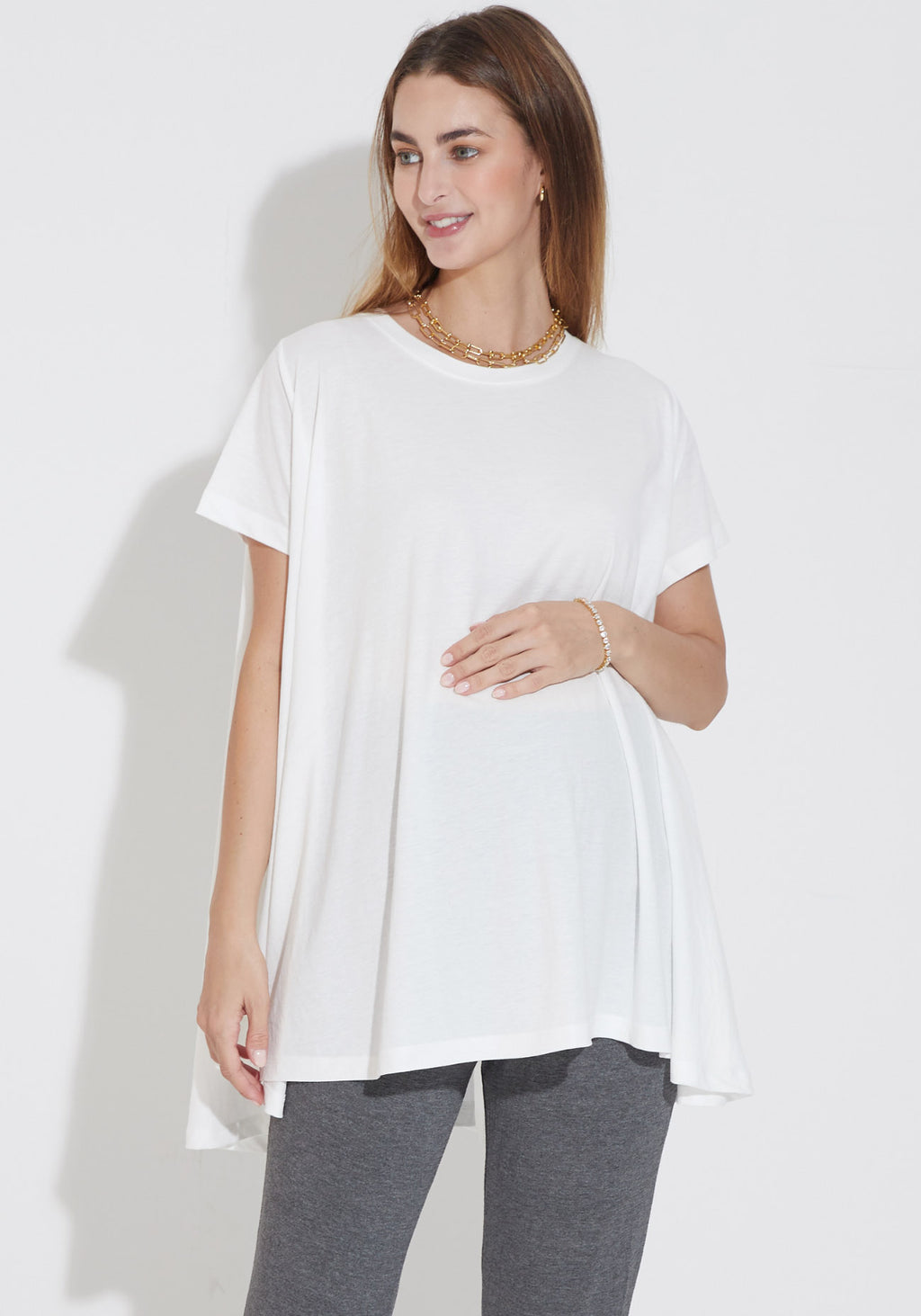 RELAXED TRAPEZE TEE