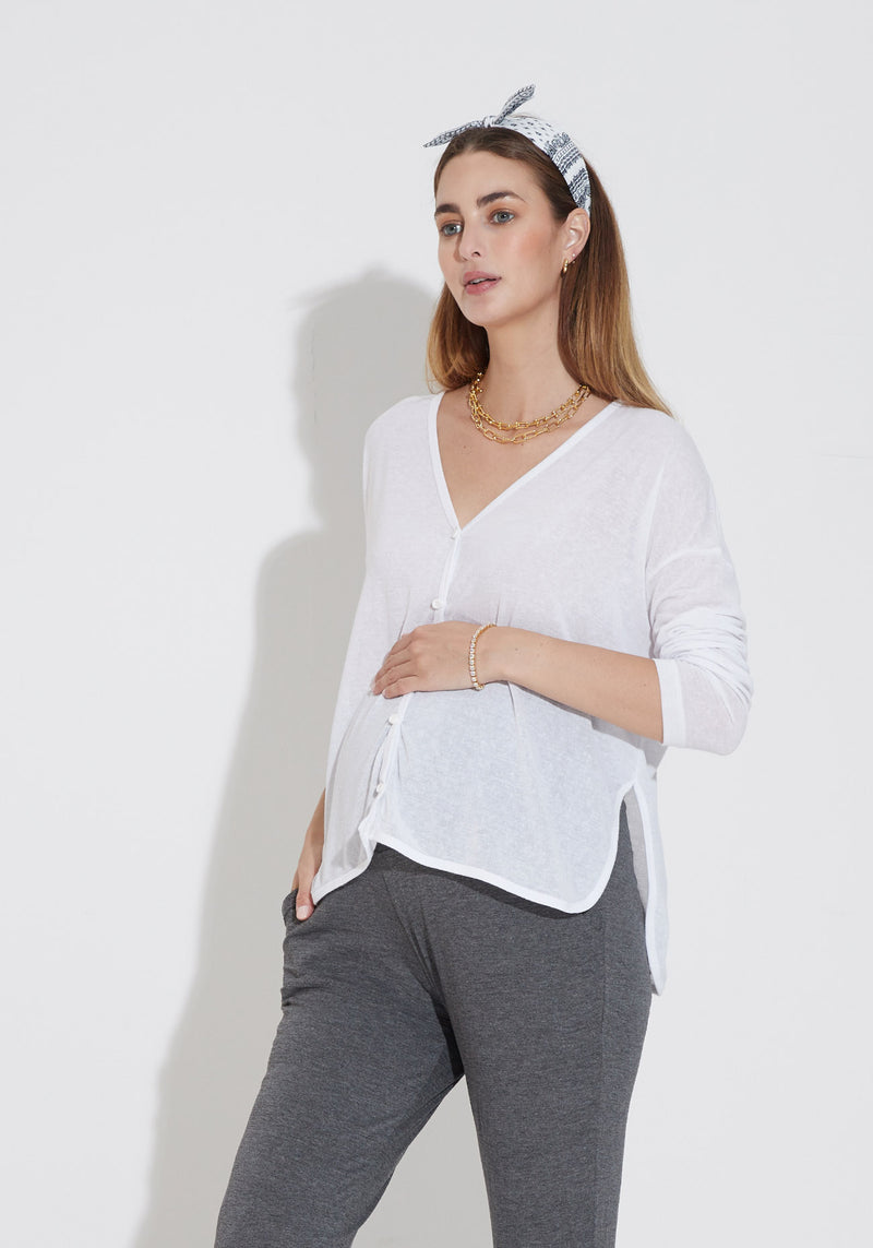 MICRO KNIT NURSING CARDIGAN
