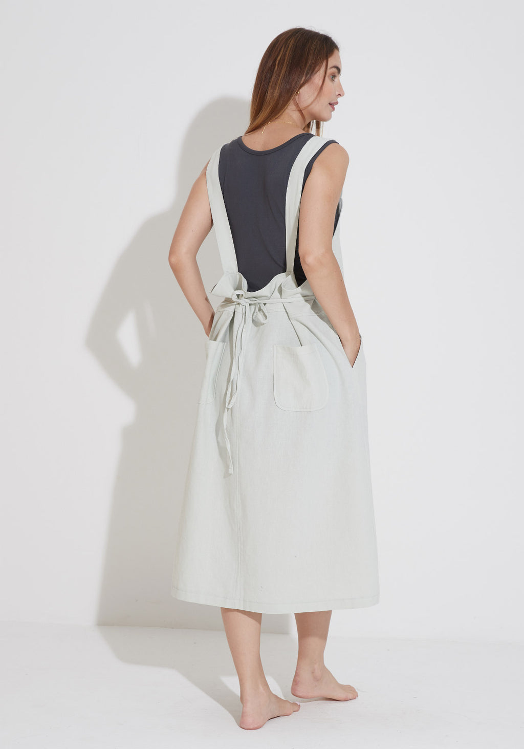 LAYERING WASHED COTTON DRESS