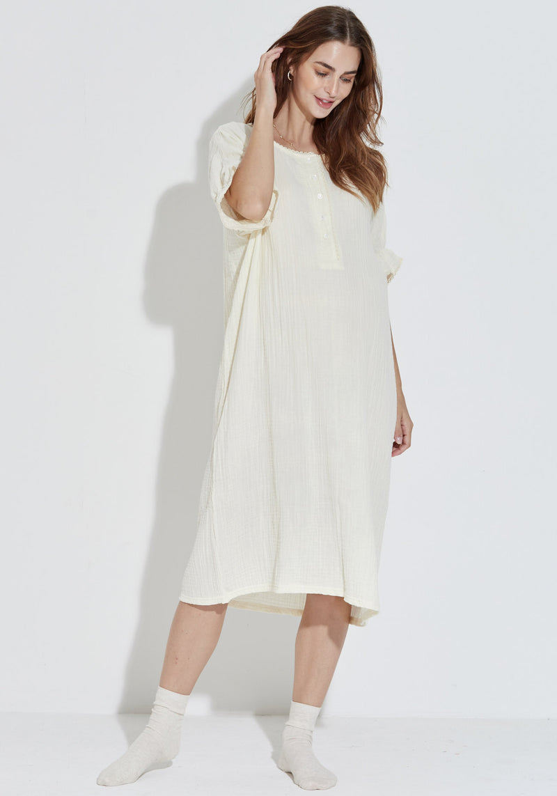 GAUZE NURSING DRESS