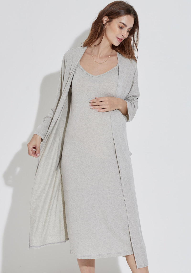 SOFT ANGORA GAUZE KNIT 2 PIECE SET - LONG