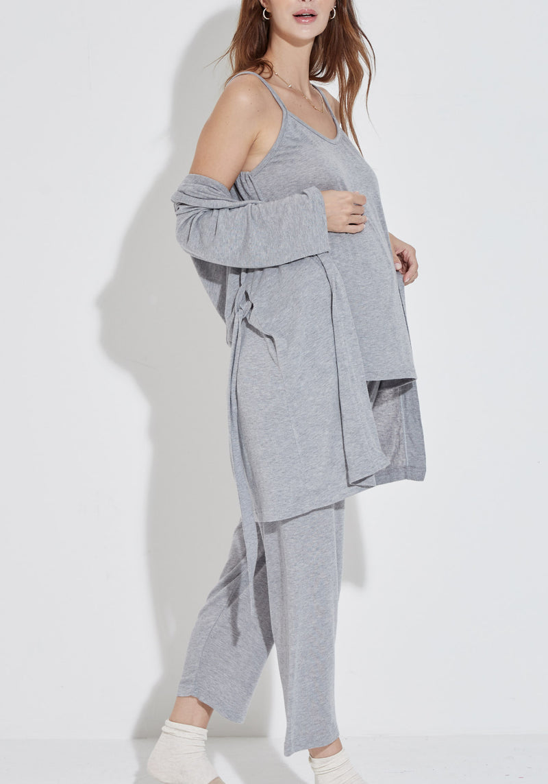 [EDITOR'S PICK] SOFT ANGORA GAUZE KNIT ROBE &  PJ SET