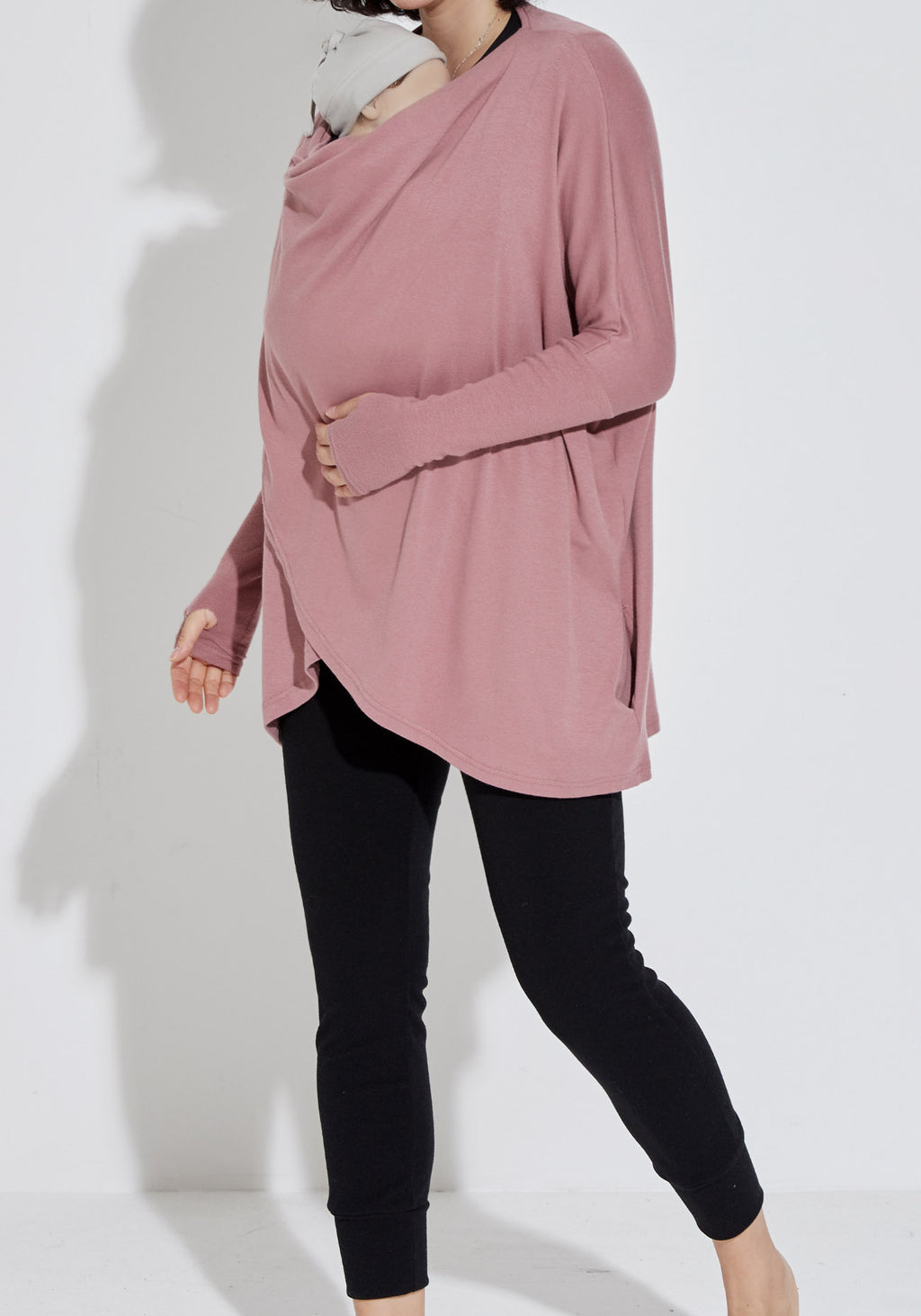 SOFT NURSING CARDIGAN & BABY WRAP