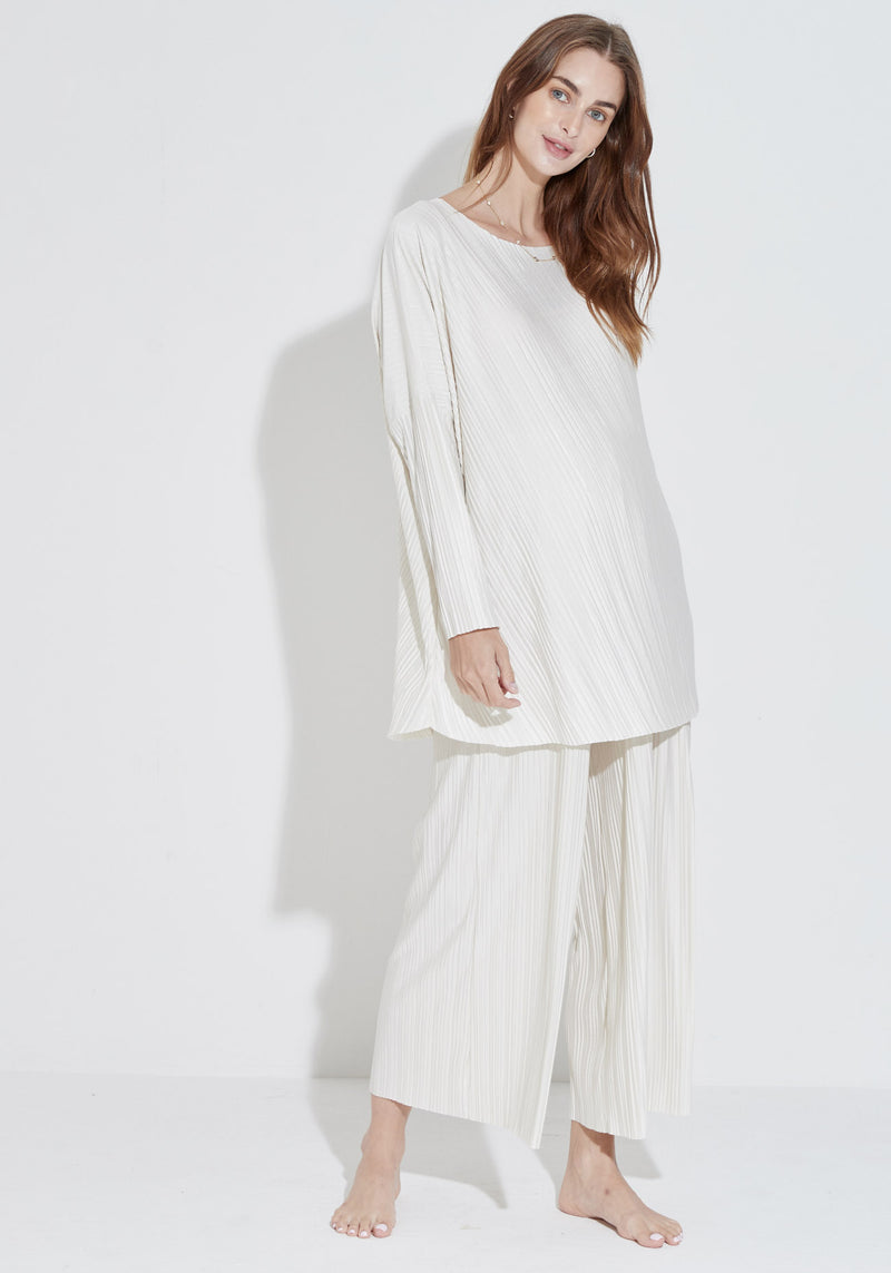 PLEATED TUNIC & BOTTOM SET