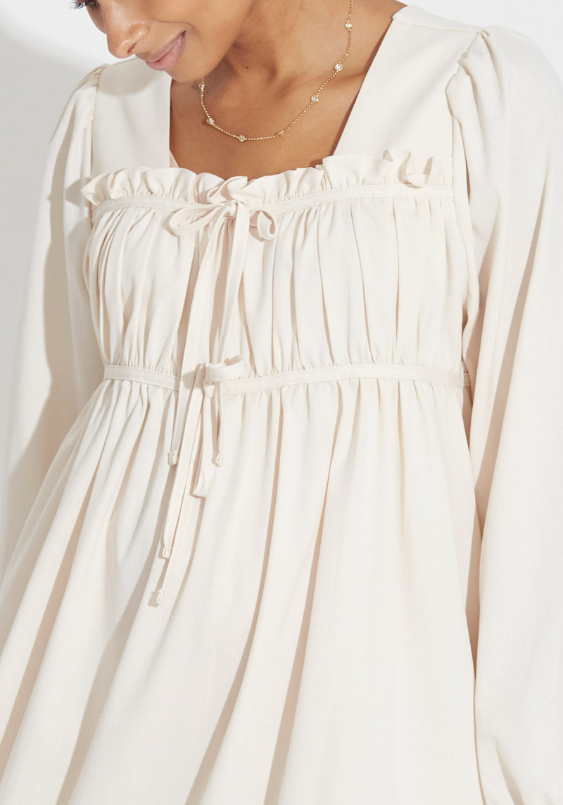 RUFFLED RIBBON DRESS