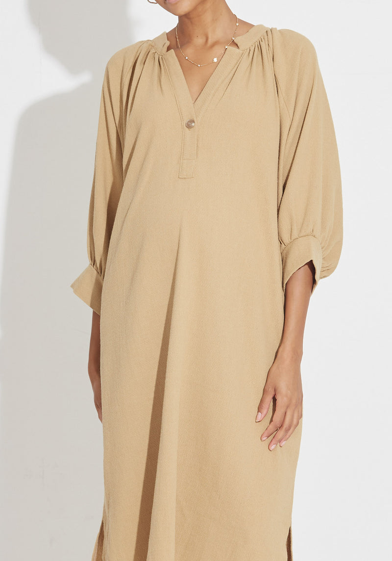 RELAXED GAUZE NURSING DRESS