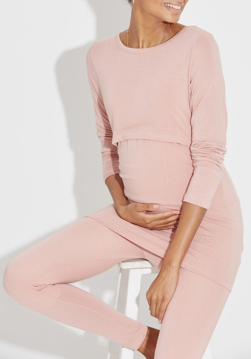 PUDDING NURSING TOP & LEGGINGS SET