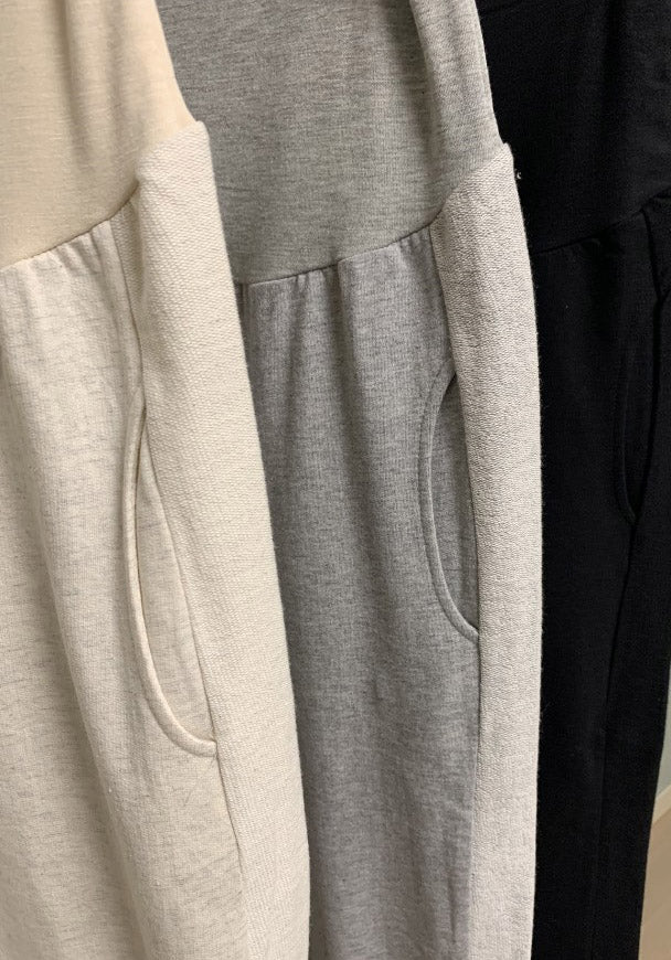CONTRAST SIDE TERRY JOGGER PANTS