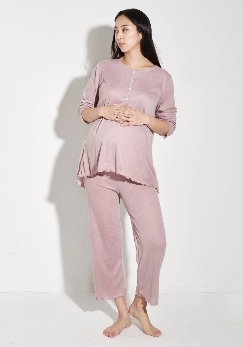 RUFFLED NURSING SET