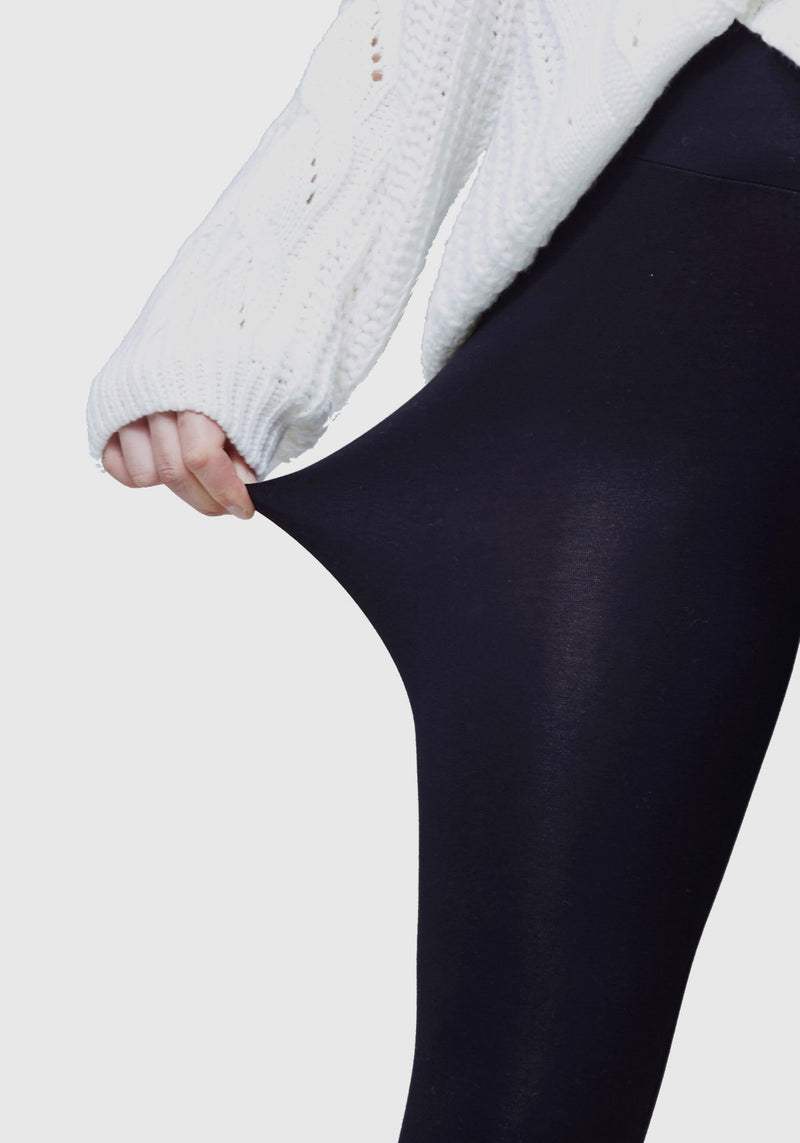 SECOND SKIN COTTON LEGGINGS - CROPPED