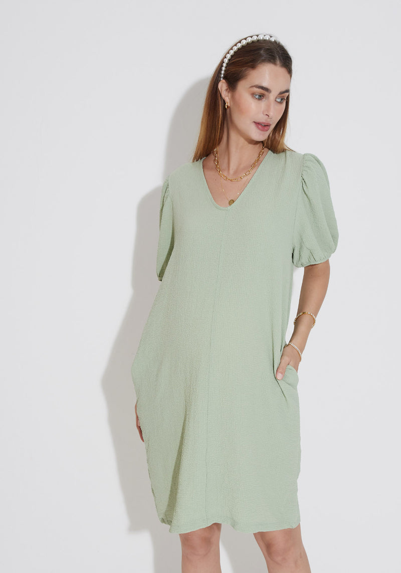 TEXTURED STRETCH DRESS