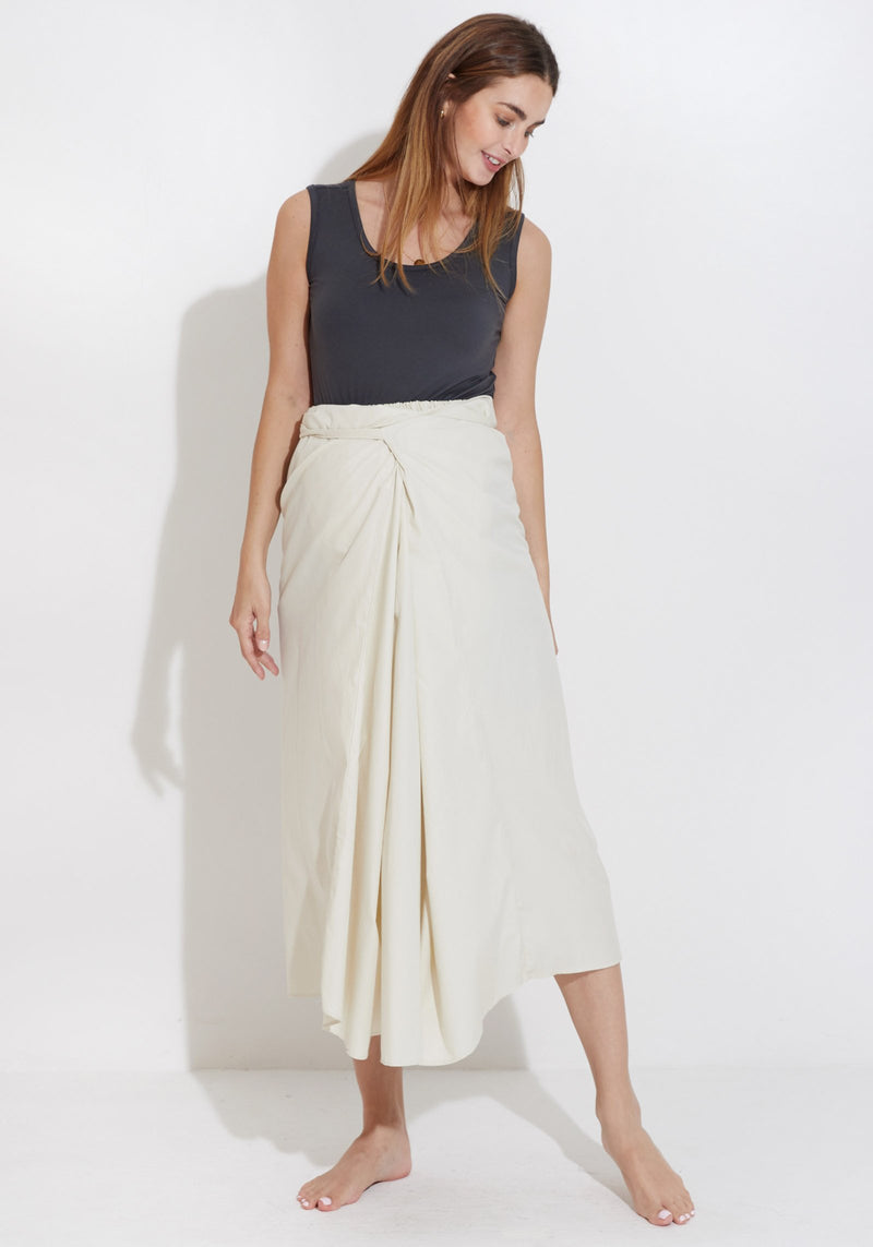 2-WAY CRISP POPLIN WRAP SKIRT