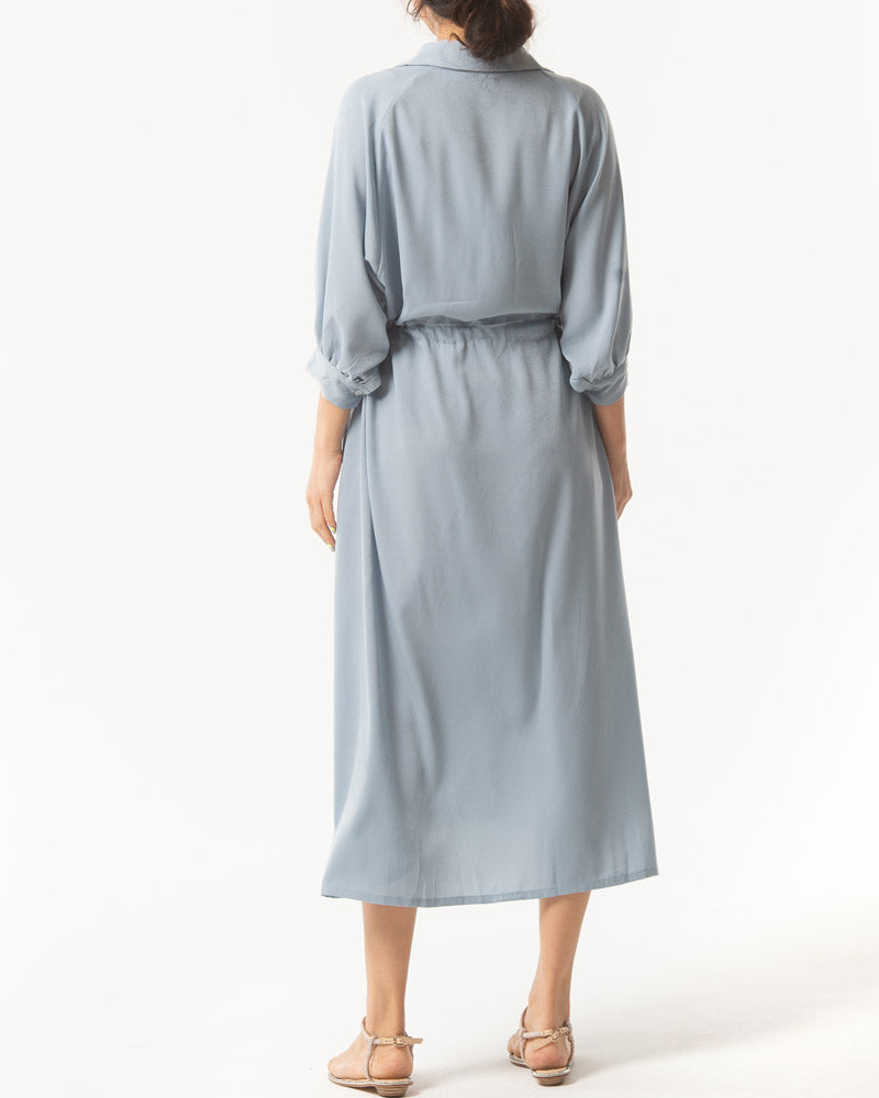BUTTONED SOFT TWILL DRESS