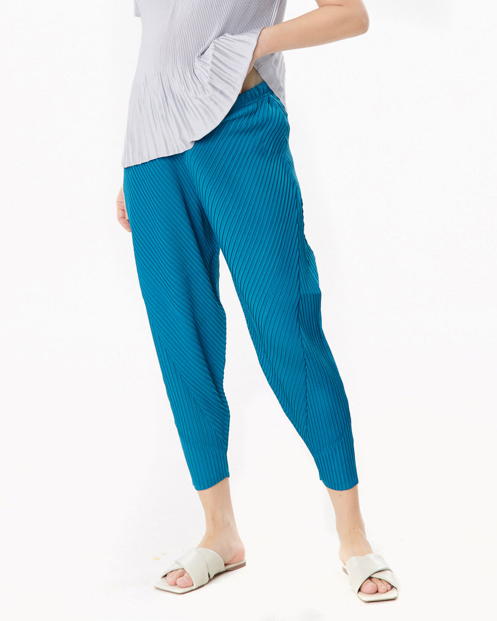 PLEATED BAGGY PANTS