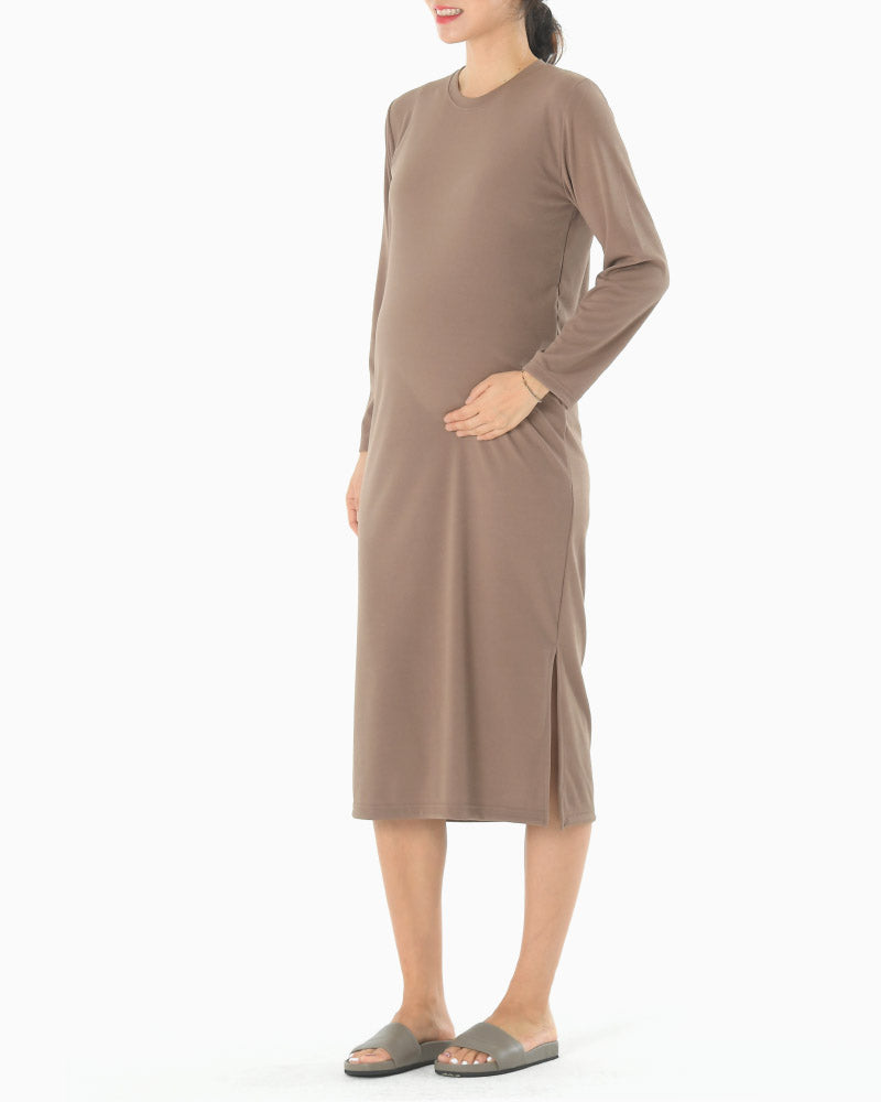 BASIC STRETCHY MIDI DRESS