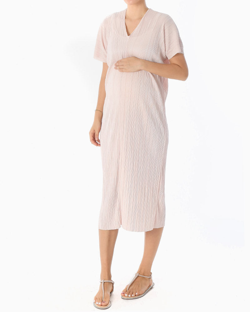 PLEATED GODDESS DRESS