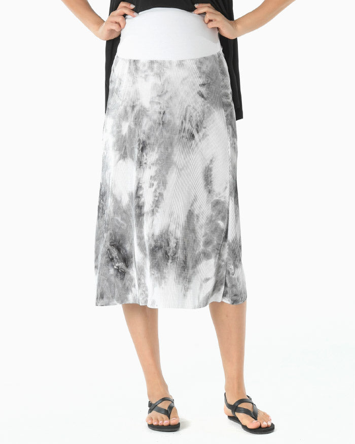PLEATED WATER PAINT SKIRT