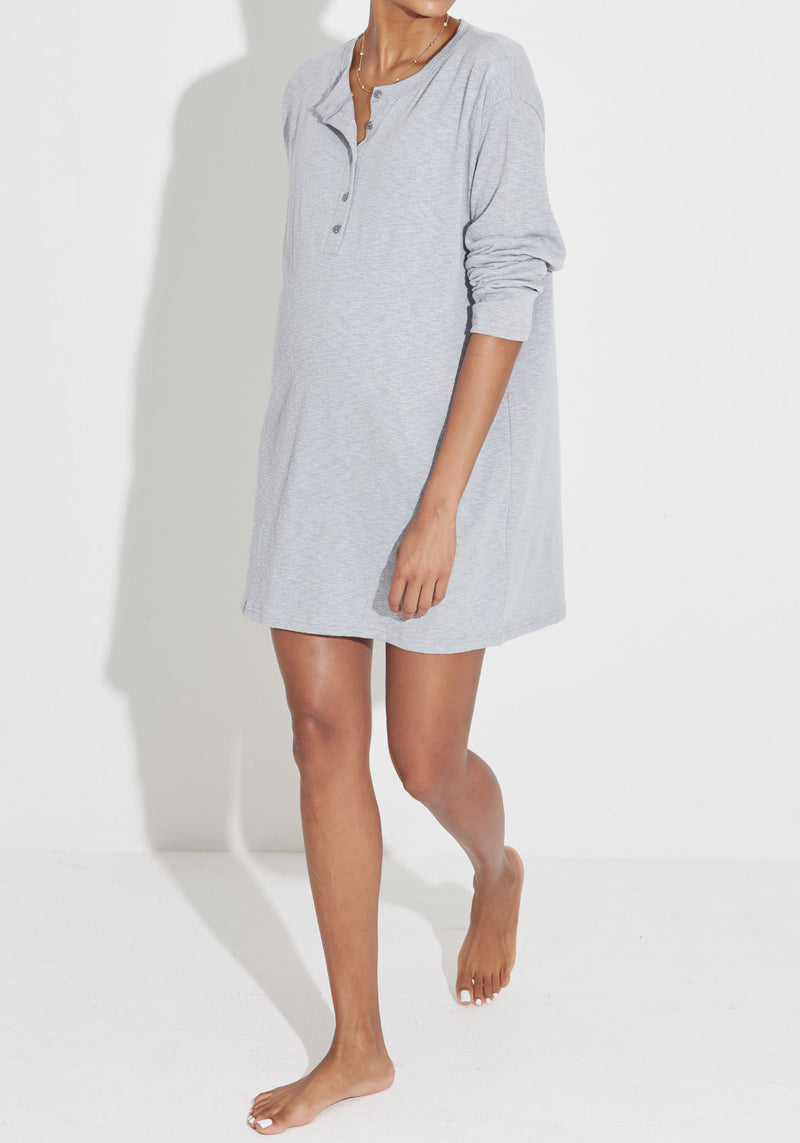SLUB NURSING DRESS