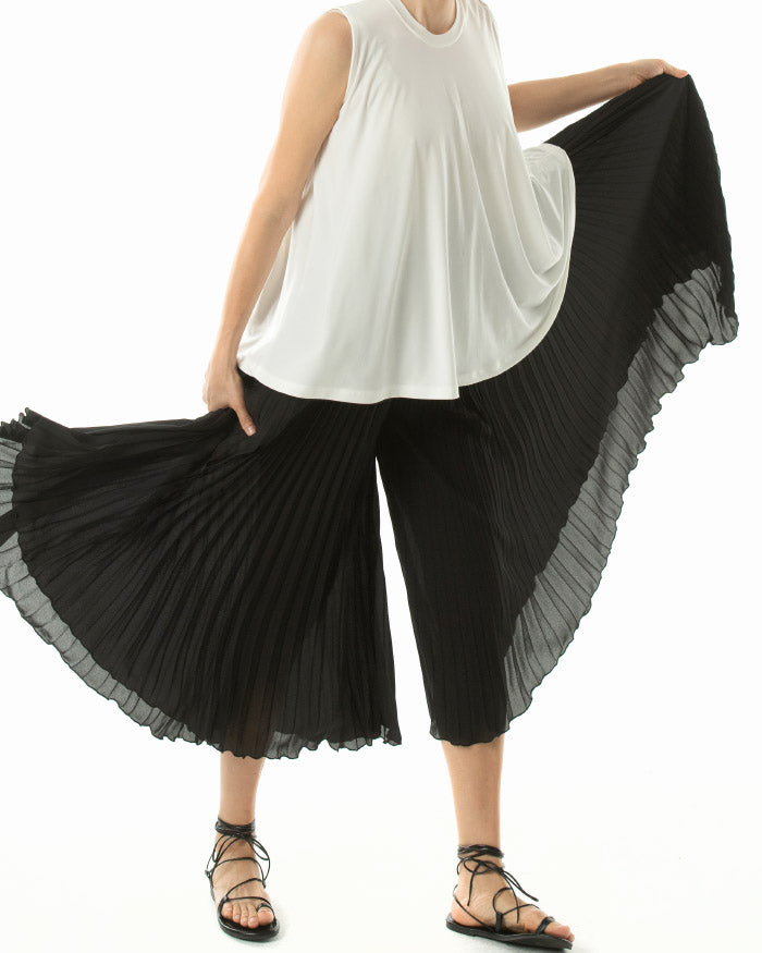 [EDITOR'S PICK] PLEATED CHIFFON PANTS
