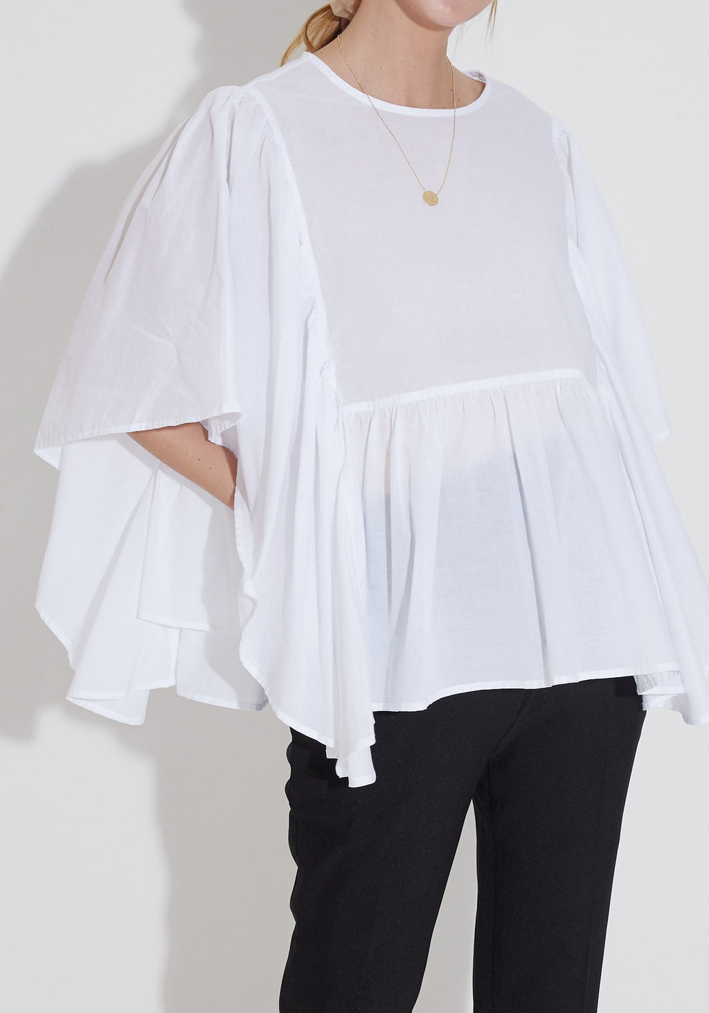 BREEZY COTTON FRILL TOP