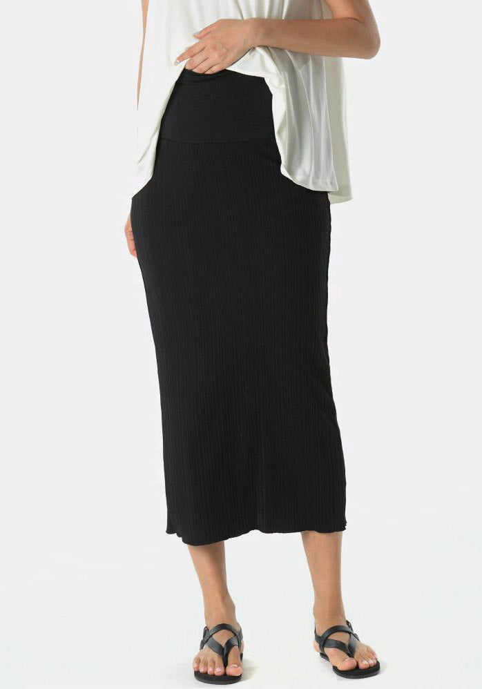 MODAL PLEATED MIDI SKIRT