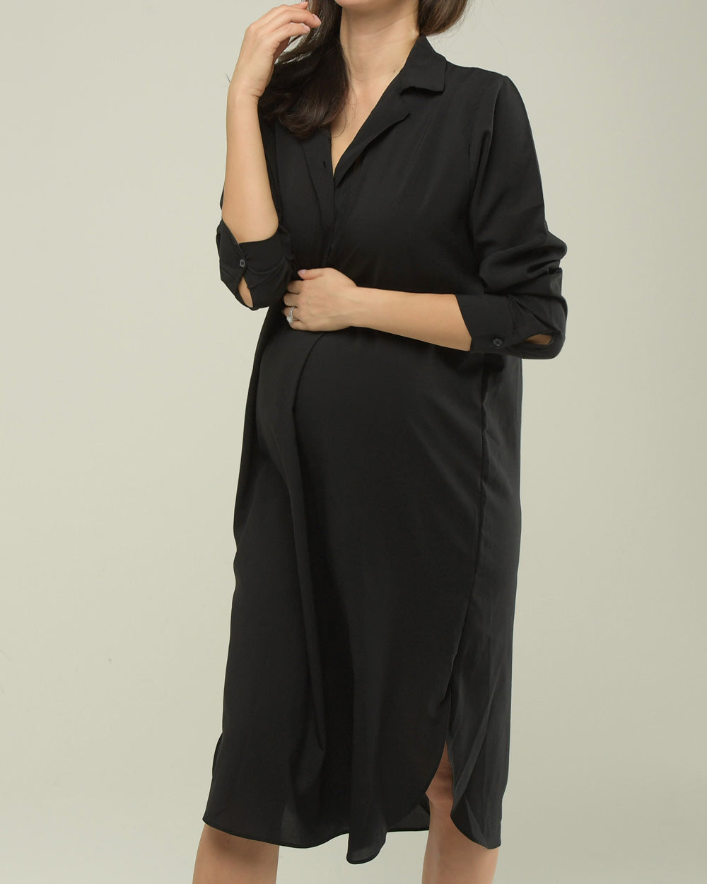 SILKY SMOOTH SATIN SHIRT DRESS