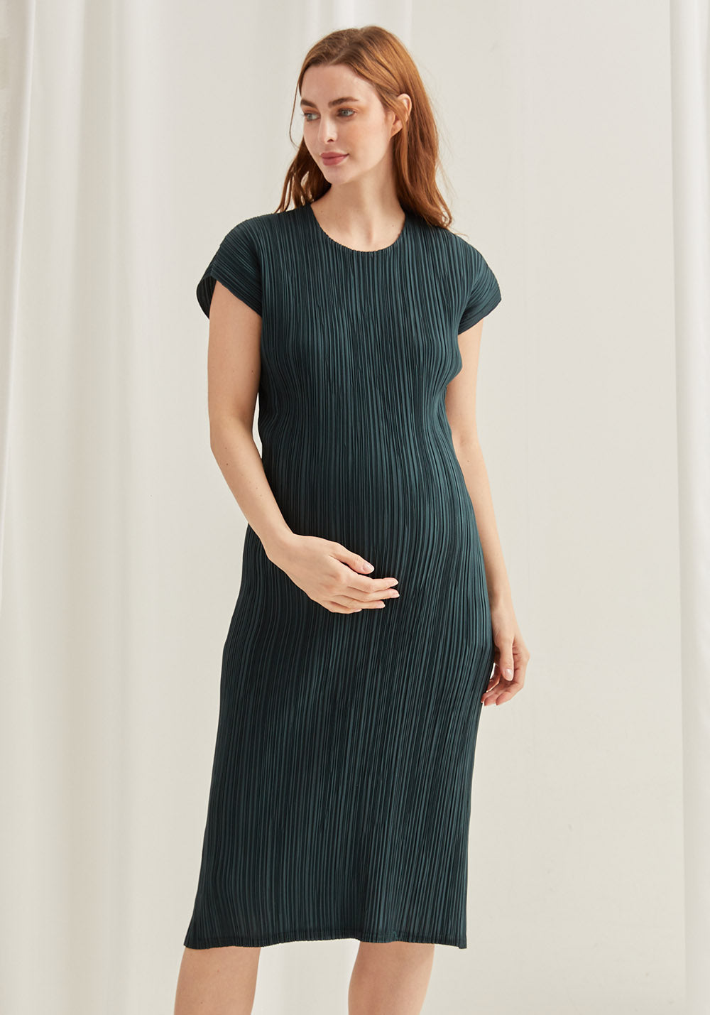 LUXE PLEATED DRESS
