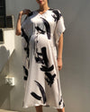 BRUSH STROKE DRESS