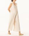 PLEATED WIDE LEG JUMPSUIT