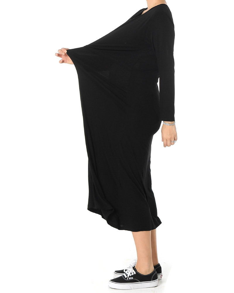 SLINKY JERSEY NURSING DRESS