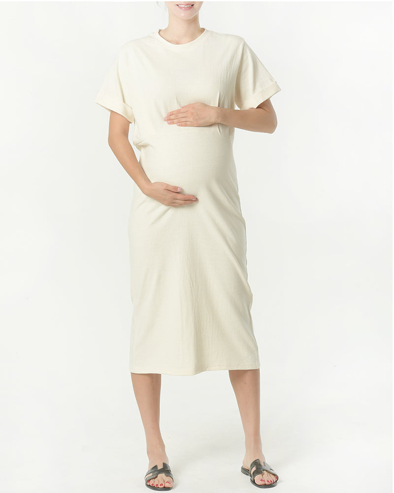 COTTON TERRY LONG DRESS