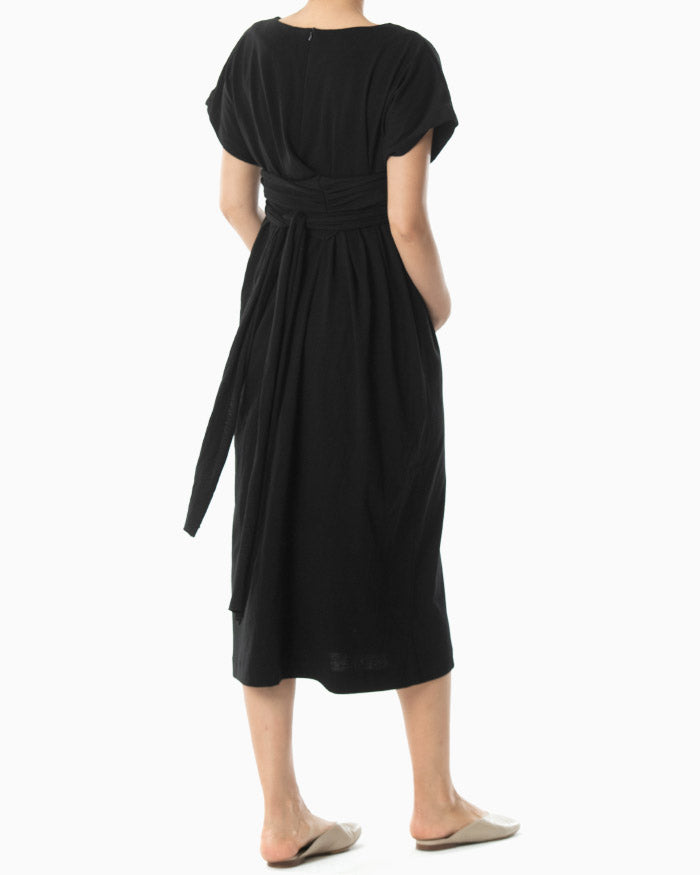 BELTED ORGANIC COTTON DRESS