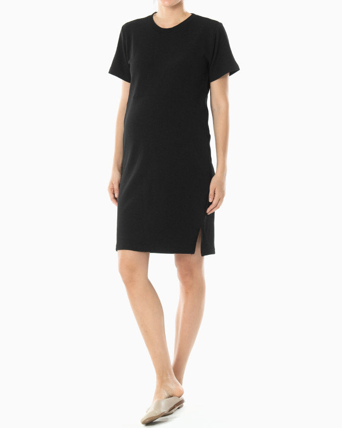 TEXTURED T-SHIRT DRESS