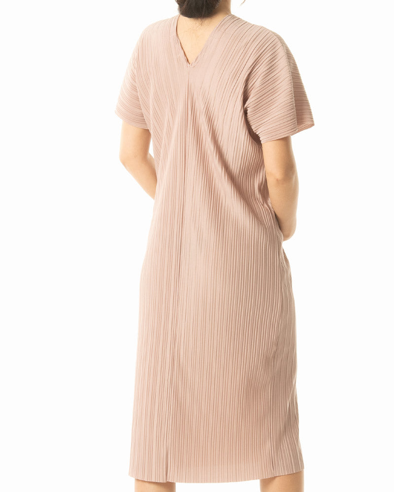 PLEATED COCOON DRESS