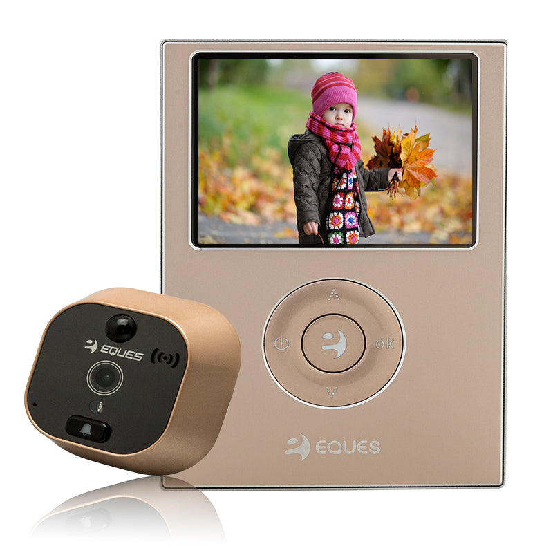 Eques Digital Door Viewer R21 gold