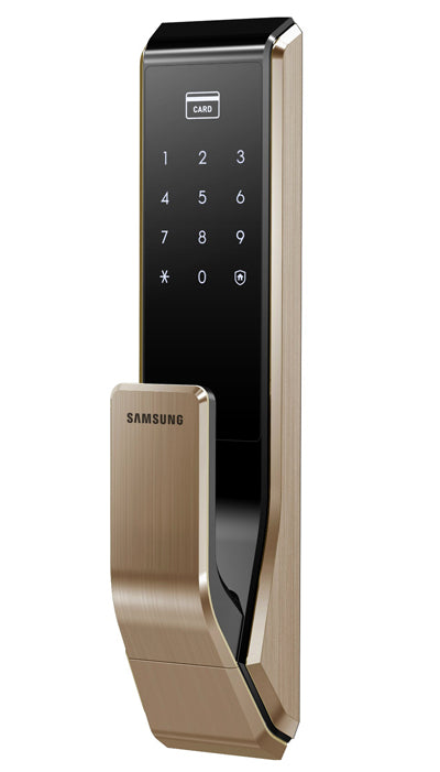 Samsung Digital Lock SHS-P717 Gold front side view