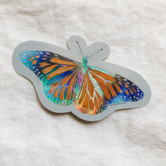 Holographic Monarch Butterfly Vinyl Sticker