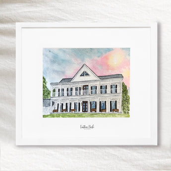 Custom Home Portrait in Watercolor