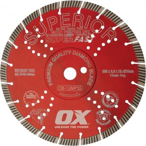 OX PROFESSIONAL MPSS TURBO SUPERIOR DIAMOND BLADE