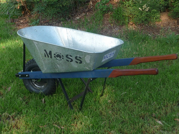 Moss galvanised wheelbarrow