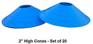 "Cintz 2"" Cones- Set of 20. Comes with a velcro carry strap- Blue Color"