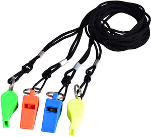 Cintz Referee Whistles with Lanyards (Set of 4)