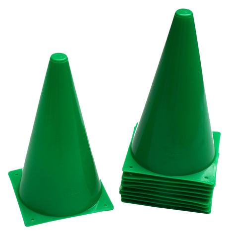 "Cintz 9"" Cones, Set of 10 - Green Color"