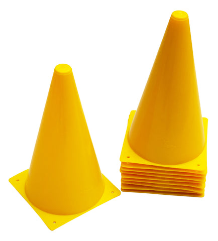 "Cintz 9"" Cones- Set of 10 - Yellow"