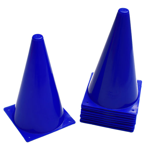 "Cintz 9"" Cones- Set of 10 - Blue Color"
